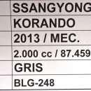 Ssangyong Korando 2013 gris - 8