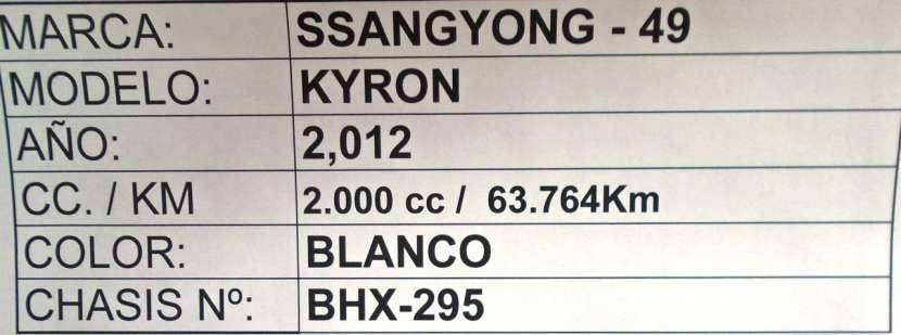 Ssangyong Kyron 2012 blanco - 8