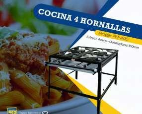 Cocina Industrial 4 hornallas