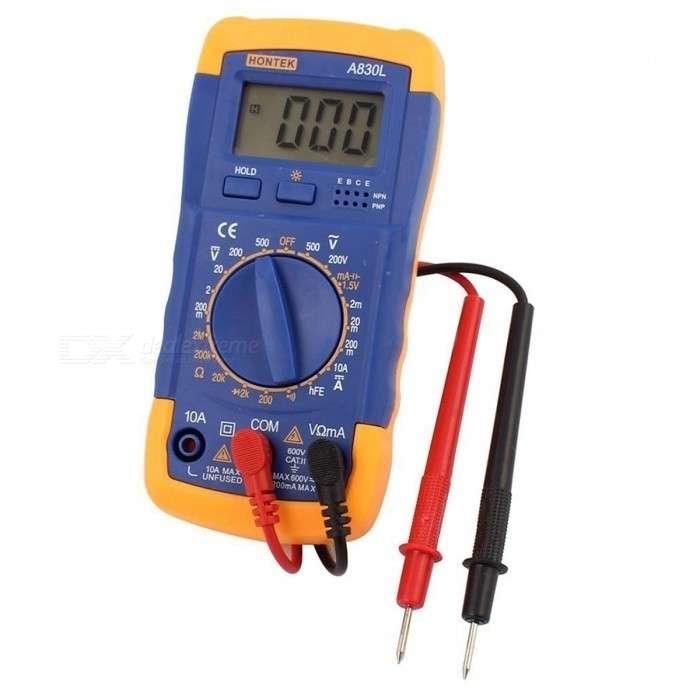 Tester Digital Amperimetro Multimetro A830L - 1