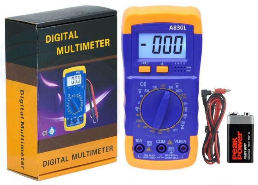 Tester Digital Amperimetro Multimetro A830L - 0