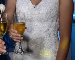 Vestido para novia totalmente bordado