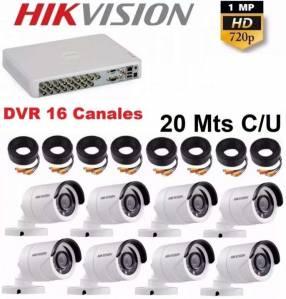Cctv 8 cámaras con dvr de 16 canales Hikvision