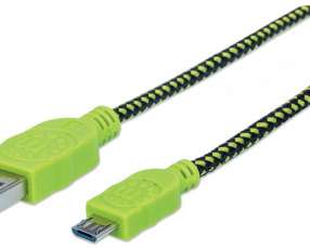 MANH Cable USB/MIC-USB 352772 1MT verde/negro