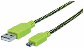 Cable USB/MIC-USB 352772 1M verde/negro