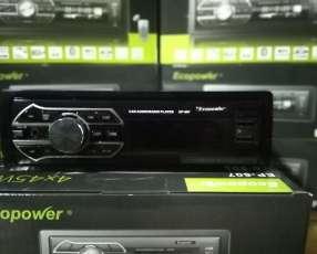 Autoradio Ecopower ep-607 con doble usb y bluetooth