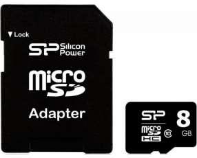 MEM Micro sdhc 8 gb (card+adap)