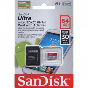 MEM SD 64 GB Micro 2X1 Sandisk class 10