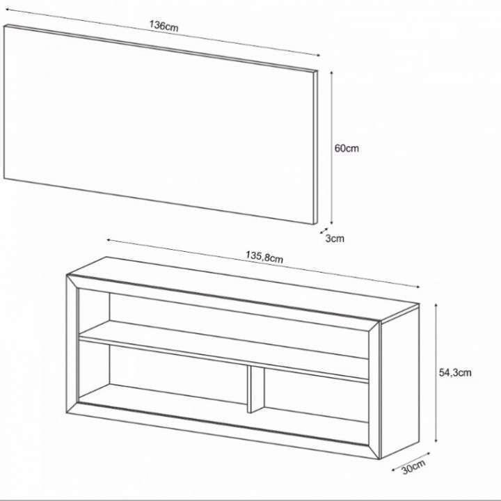 Mueble Rack bahia para tv - 1