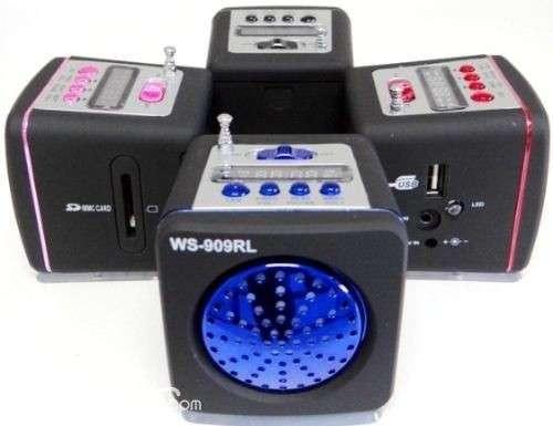 Mini mp3 speaker system ws-909rl - 0