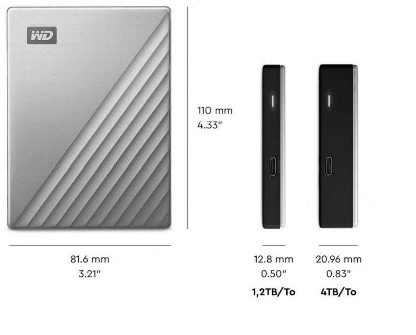 HD EXT Western 2tb mypassport wdbtlg0020bgy 2.5''black com - 0