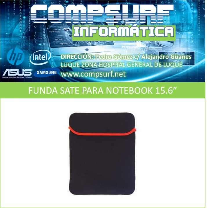 Funda Sate negro con detalle rojo para notebook 15.6 pulgadas