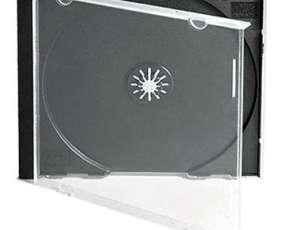 Porta cd/dvd - caja fina tapa trasparente para 1 disco