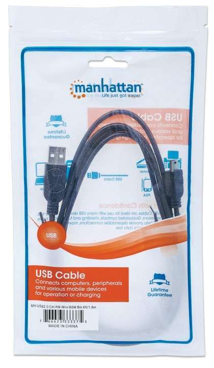 MANH CABLE USB-USB MINI-B 1.8MT 333375 - 0