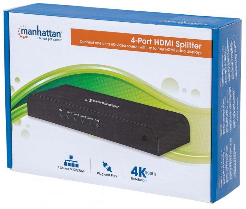 MANH HUB HDMI SPLITTER 4P 4K 207515 - 0