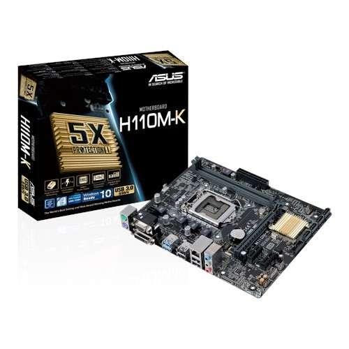 MB ASUS 1151 H110M-K V/S/R/DVI/DDR4/MATX - 0