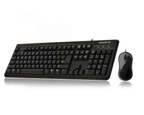Teclado+mouse gigabyte gk-km3100 usb/negro/ing
