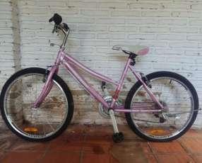 Bicicleta Caloi aro 24 MTB CALIFORNIA Dama Rosado