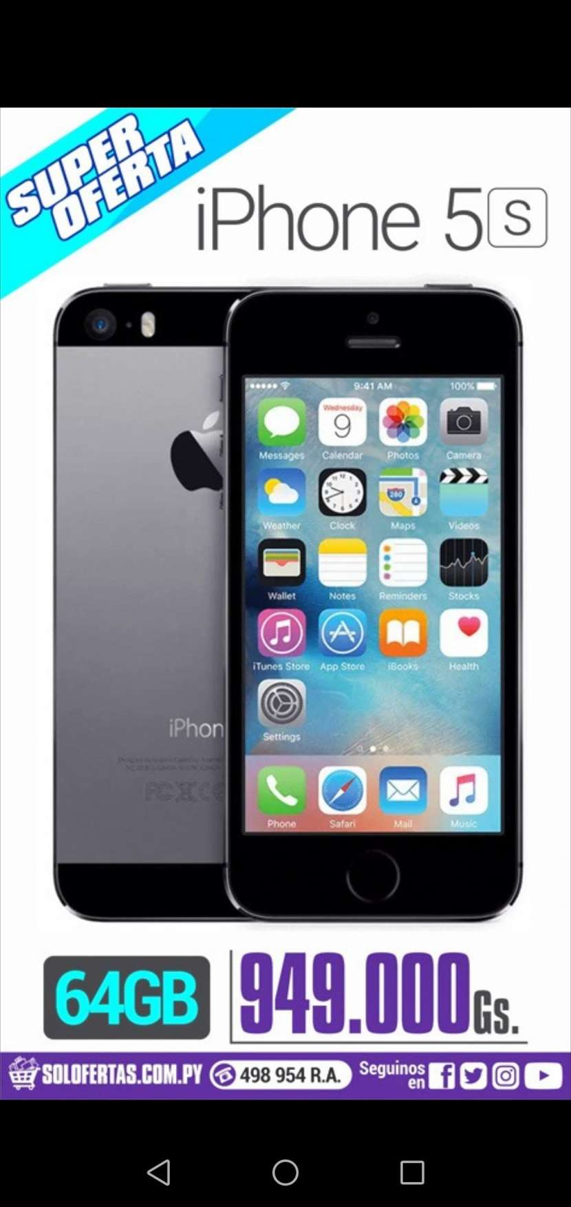 iPhone 5s de 64 gb - 0