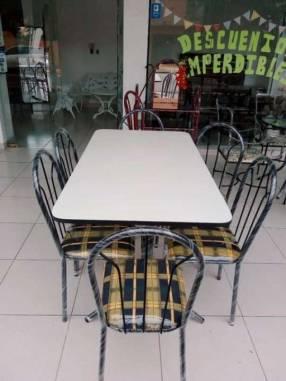 Juego de comedor económico 6 sillas