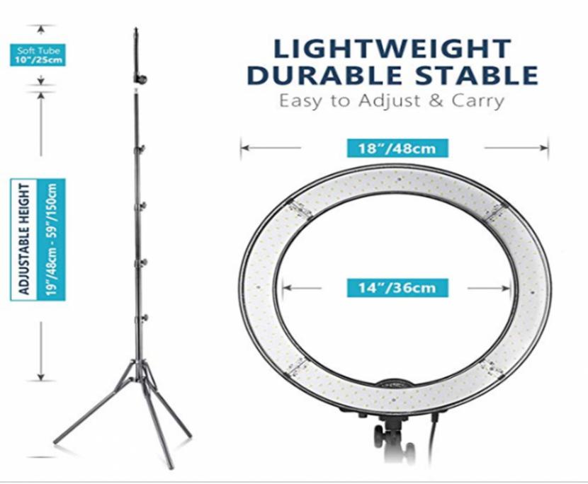 Neewer – Kit de – Anillo de luz LED Exterior - 1