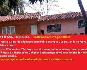 Dos casas en un mismo terreno San Lorenzo