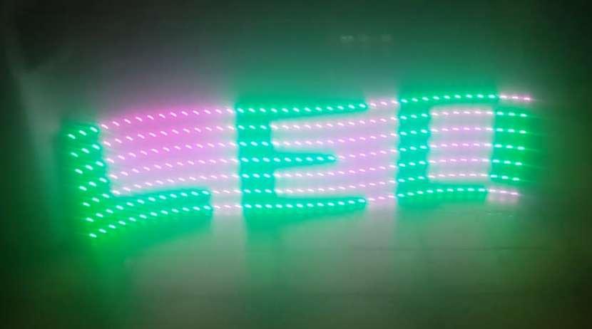 Pasa Texto LED color Flex - 1