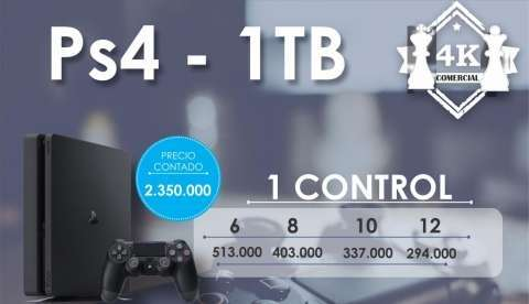 PS4 de 1 tb - 0