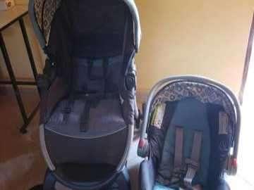 Carrito y baby seat para auto Graco - 0
