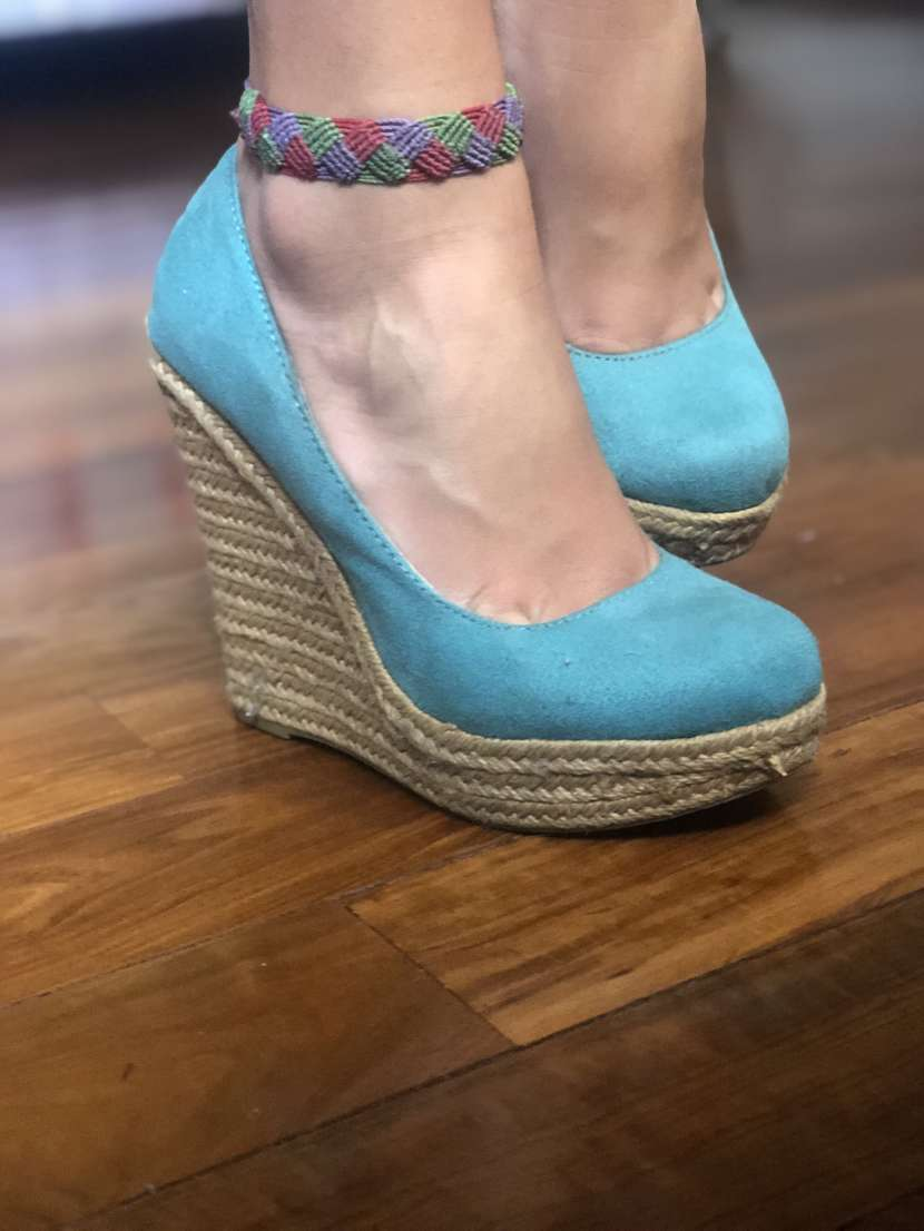 Sandalia verde tiffany calce 37 - 1