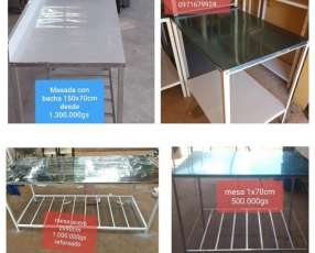 Mesas de trabajo 1x70cm 95x70 cm