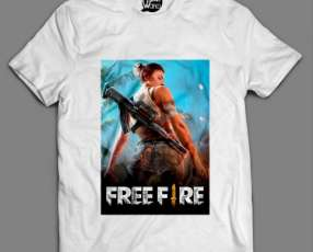 Remeras free fire 100% algodón