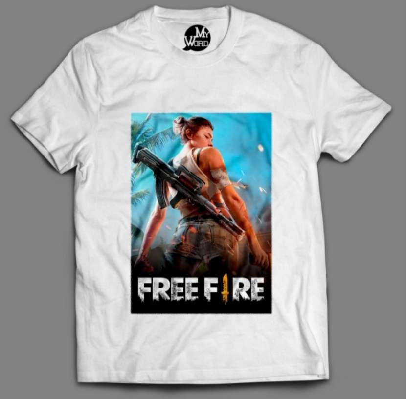 Remeras free fire 100% algodón - 0