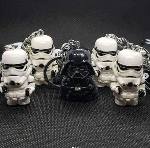 Llavero de Star Wars diseño Darth Vader y Stormtrooper - 0