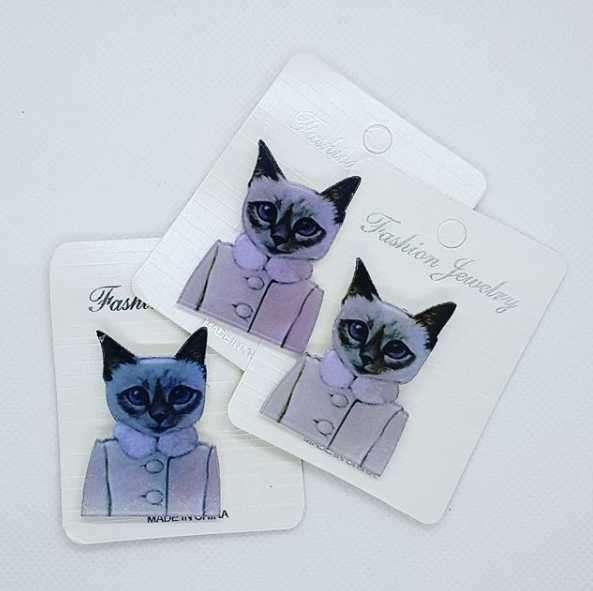 Pin de Gato para usar en ropa o mochila - 0