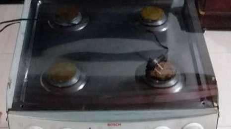Cocina Bosch 4 hornallas a gas con horno eléctrico - 4