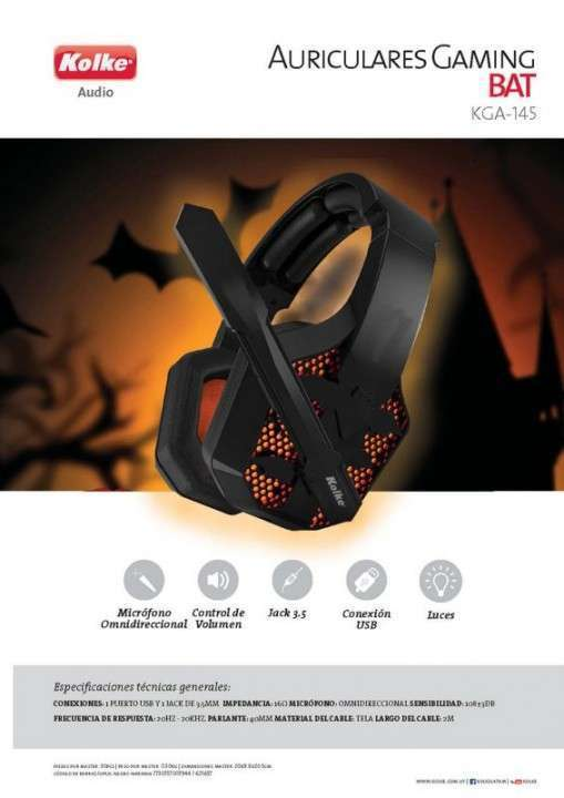 Auricular gaming Bat Kolke KGA-145 - 0