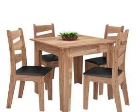 Conjunto comedor con 4 sillas