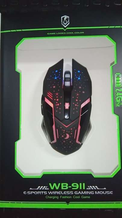 Mouse Inalámbrico Recargable con luces RGB - 5