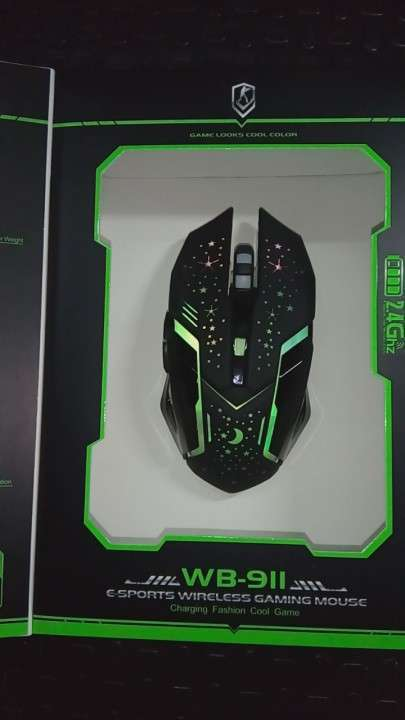 Mouse Inalámbrico Recargable con luces RGB - 6