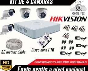 Kit completo de 4 cámaras de seguridad