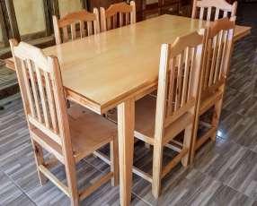 Mesa de 6 sillas