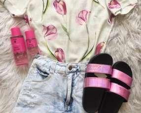 Zapatilla pink rosa tamaño pequeño