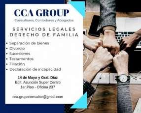 Servicios en el área de derecho de familia
