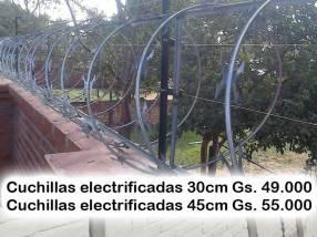 Cuchillas tipo arpón electrificadas