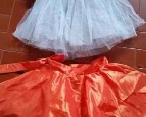 Pollera de danza clásica p/niña