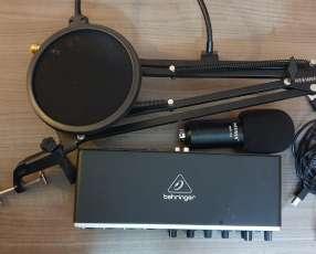 Interface de audio Behringer+ MIC de condensador Neewer