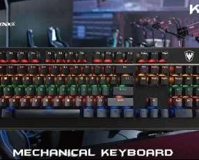 Teclado Satellite gamer mecánico k3 evolution