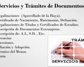 Servicios y trámites de documentos