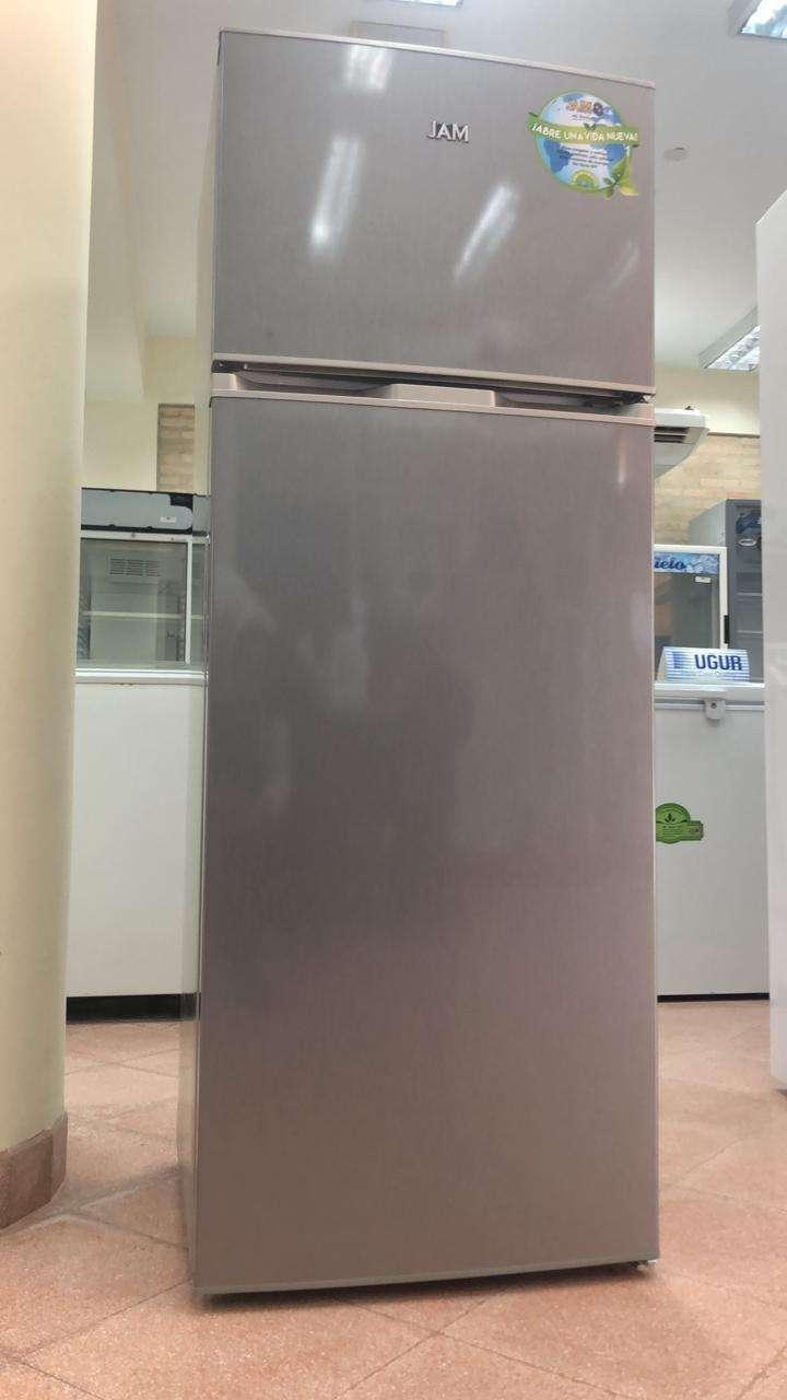 Heladera JAM color gris de 320 litros frío seco - 0